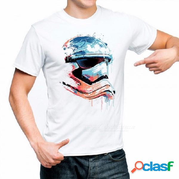 2018 camisetas divertidas impresas de star wars camiseta robot star wars manga corta de los hombres tops de camiseta camisetas de moda