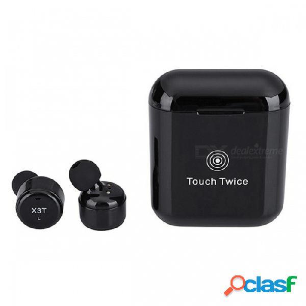 Auriculares inalámbricos bluetooth con control táctil, auriculares inalámbricos verdaderos con micrófono que cancelan el ruido y resistentes al sudor, caja de carga
