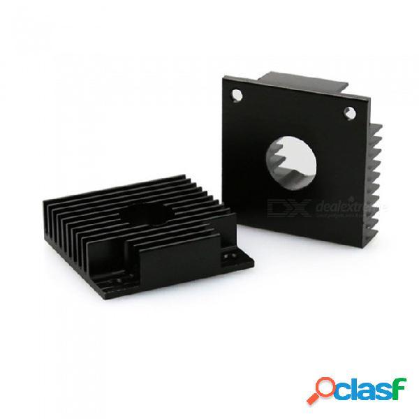 Disipador de calor de aluminio universal de zhaoyao 5pcs 40 * 40 * 11m m, disipador de calor del extrusor mk7 / mk8