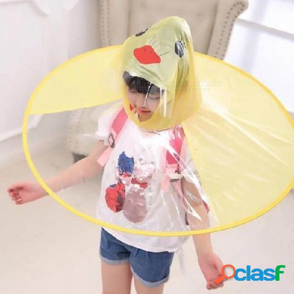 Impermeable de pato amarillo creativo ovni cubierta de lluvia para niños impermeables impermeable para niños cubierta del paraguas juego al aire libre suministros amarillo