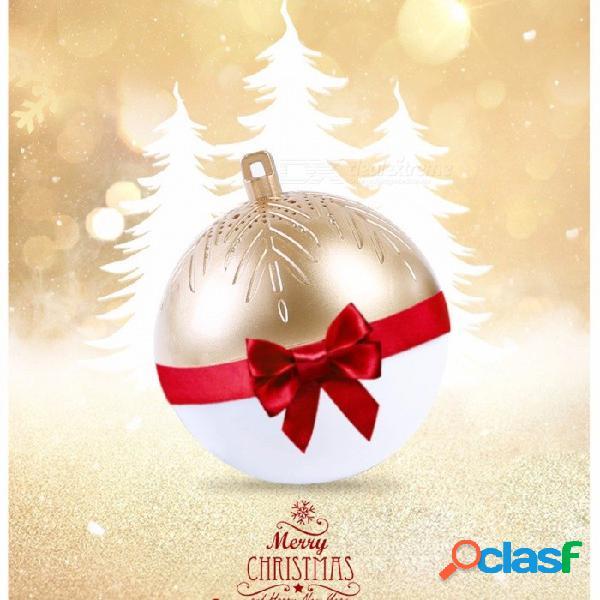 Mini altavoz inalámbrico inteligente del bluetooth de la forma de la bola con la luz del led, canciones incorporadas de la navidad rojas