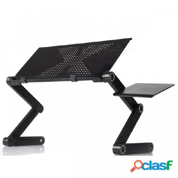 P-top 42cm ordenador portátil ergonómico multifuncional soporte de la mesa en el uso de la cama / sofá - sin ventilador