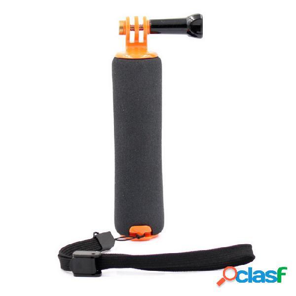 Antideslizante esponja flotante mano agarre de montaje para gopro hero 3/3 + / 4 / sj4000 / xiaomi xiaoyi -orange