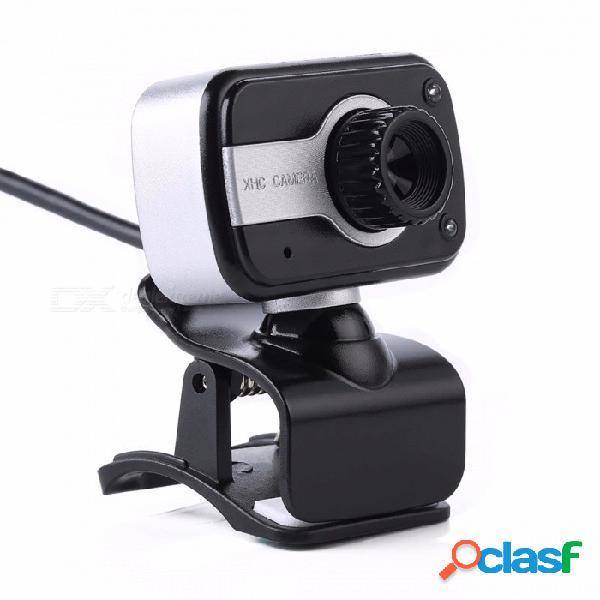 Cámara web usb de rotación de 360 grados, cámara de cámara web con clip de 12mp hd con micrófono mic para computadora portátil pc negro