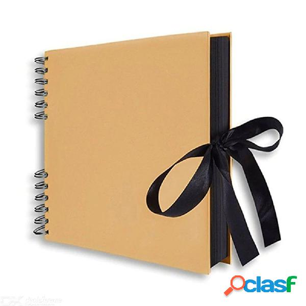 Libro de recuerdos de 20 páginas álbum de fotos de bricolaje boda invitado aniversario viaje memoria libro