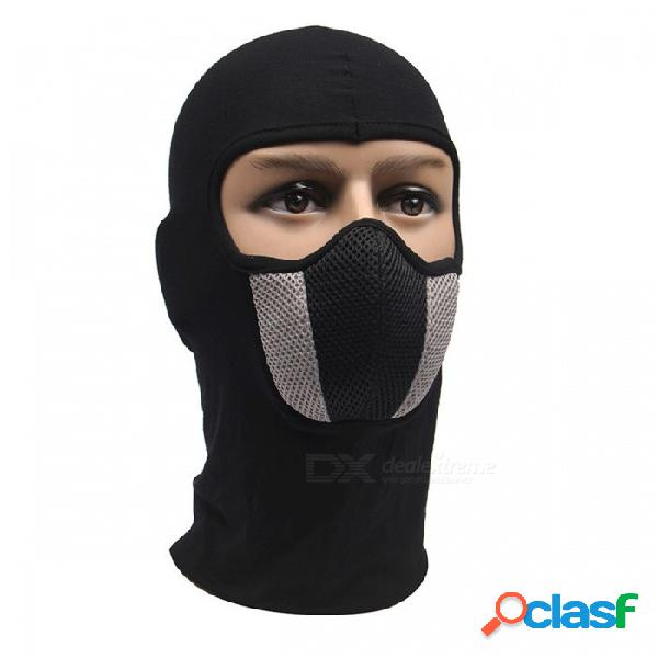 Máscara facial para hombre con capucha de casco al aire libre para motocicletas y deportes de esquí.