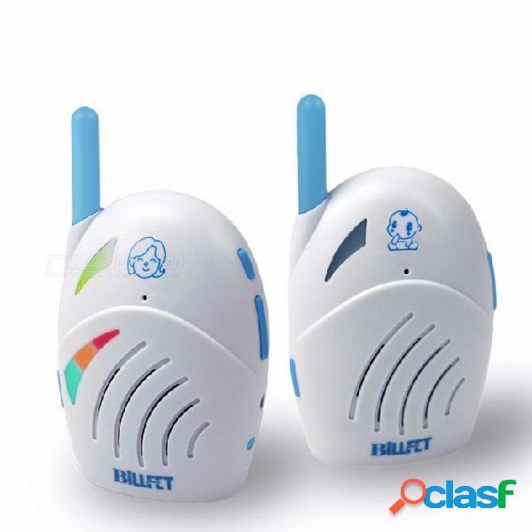 Mini portátil portátil de radio inalámbrico de audio inalámbrico bebé monitor de sonido del bebé, seguridad walkie talkie blanco