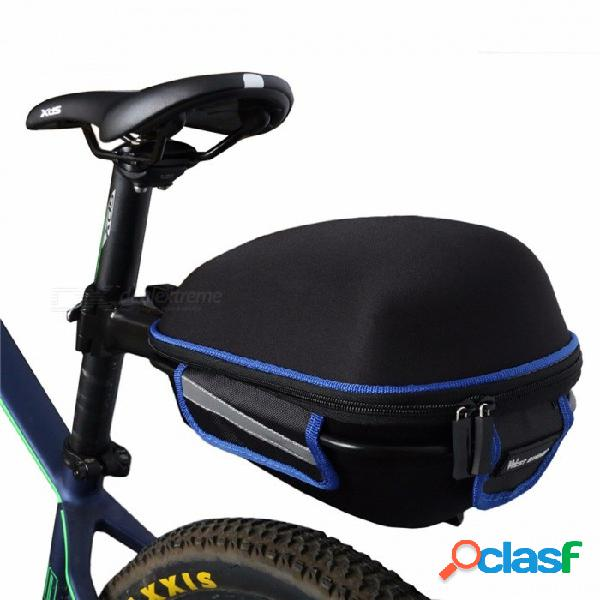 West biking bolsa trasera para bicicleta impermeable con funda impermeable, cola de ciclismo portátil que extiende la bolsa de sillín de bicicleta