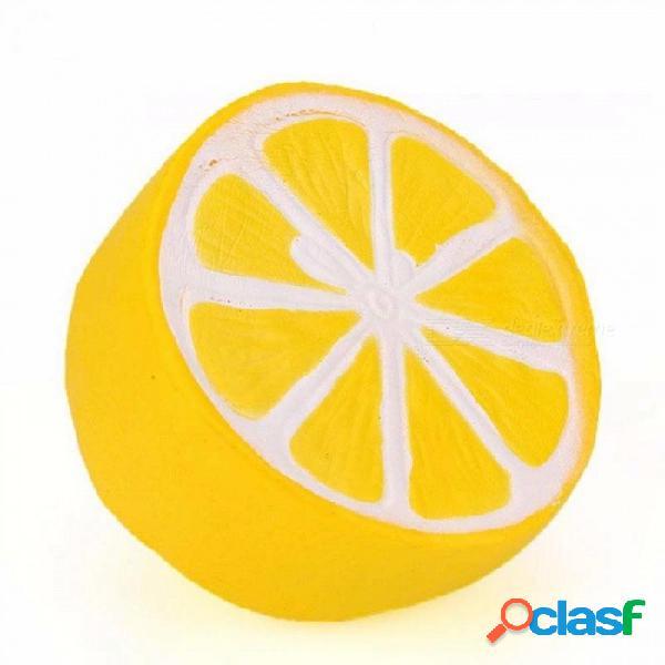 10 cm limón squishy lento aumento suave apretón correa del teléfono lindo alivia el estrés ansiedad regalo divertido juguete