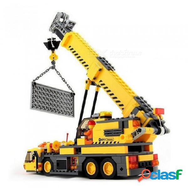 Juguetes para niños bloques 380 unids modelo de juguete compatible con ingeniería ciudad edificio grúa bloques de construcción educativos ladrillos legoings sin caja