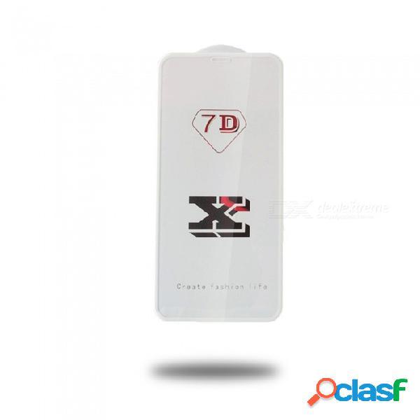 Protector de pantalla de cristal templado superpuesto de corte frío de pantalla completa 7d para iphone x, 7 más / 8 más, 7/8, 6 más / 6s plus - negro