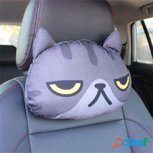 3d car styling coche reposacabezas almohada cabeza reposacabezas reposacabezas asiento de respaldo encantador gato perro animal huskies regalo presente gris