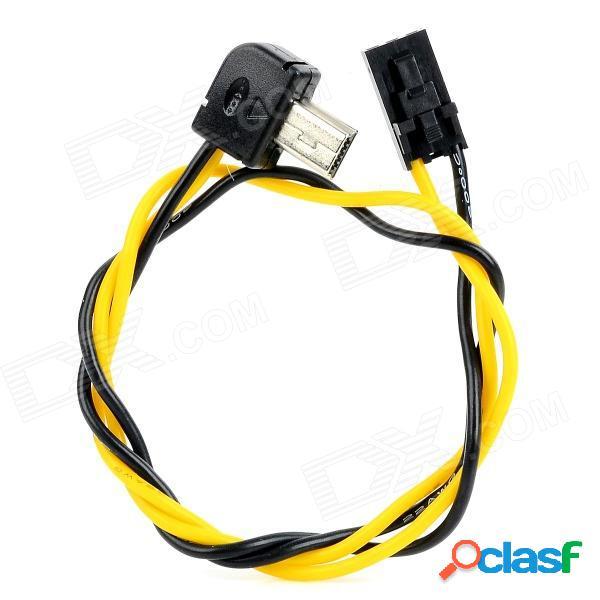 5.8g transmisor fpv a / v cable de salida en tiempo real para gopro hero 3 - negro + amarillo (30cm)