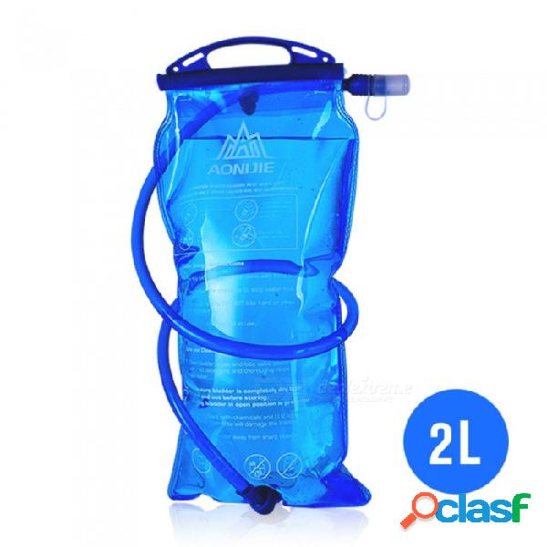 Aonijie mochila de agua plegable 2l para escalada al aire libre, a caballo, en funcionamiento - azul
