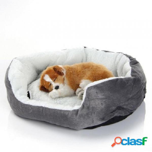 Cama de perro estera sofá perrera manta cojín cesta, perrito cuna de invierno cama para dormir casa caliente para cachorro perro pequeño