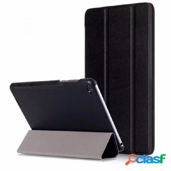 Funda ultra fina delgada de la tapa de la tableta del tirón del cuero de la pu para xiaomi mi pad 3, mipad 3, mipad 2 funda 7.9 pulgadas tableta negro