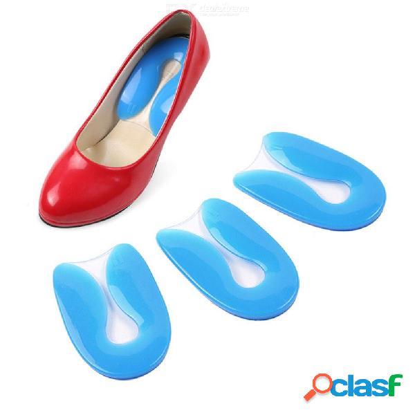 Plantilla de gel de silicona en forma de u fascitis plantar talón cojín almohadilla zapato para hombres mujeres