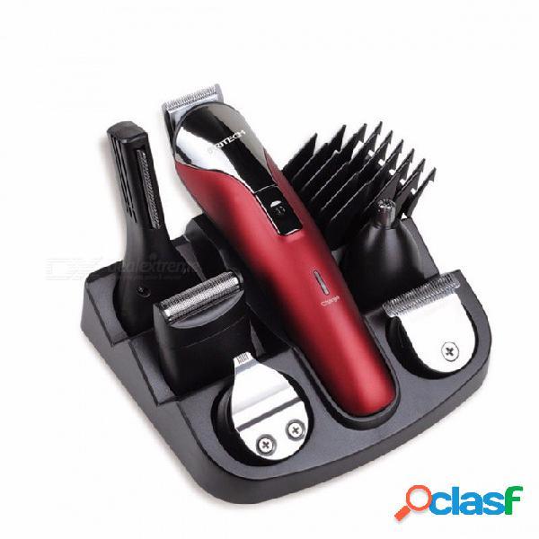 Pritech profesional 6-en-1 cortadora de pelo máquina de afeitar de la máquina de afeitar, máquina de afeitar eléctrica barba cortadora de pelo máquina de corte