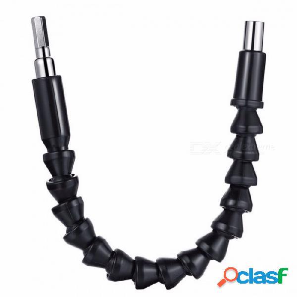 Jelbo 290mm taladros accesorios taladro eléctrico herramienta brocas de eje flexible extensión destornillador taladro herramienta eléctrica negro