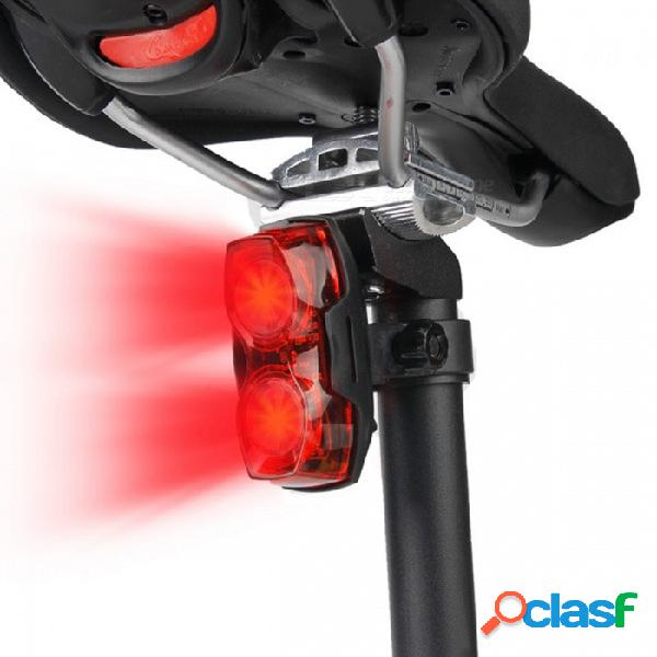 Luz de ciclismo led luces intermitentes luz de seguridad trasera trasera cola bicicleta de carretera bicicleta de montaña advertencia luz de flash negro