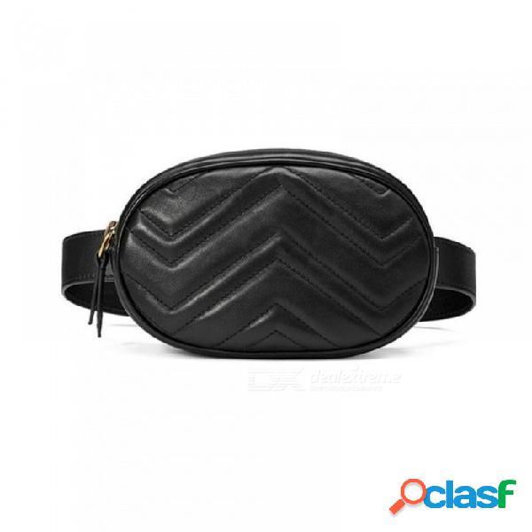 Cinturón bolso bolso cintura redondo fanny pack mujer marca de lujo bolso de cuero multi colores azul negro opcional