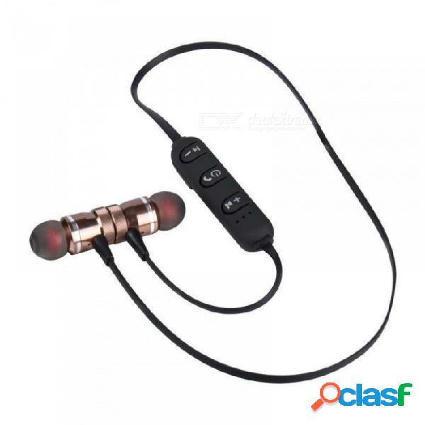 Deporte inalámbrico de los auriculares del bluetooth que funciona con los auriculares magnéticos estéreos con el auricular del micrófono para el iphone negro