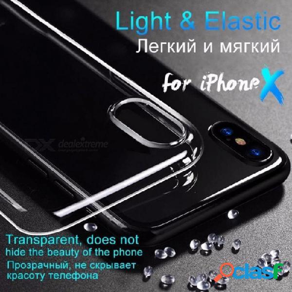 Hoco ultra fino liso transparente tpu funda para iphone x funda protectora de silicona delgada para apple iphone x iphonex 10 cok