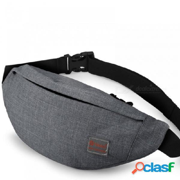 Hombres masculinos casual funcional fanny bolsa bolso de la cintura dinero bolsa de la bolsa de teléfono bolsa t201 gris negro trasero cadera bolsa de hombro paquete de la correa