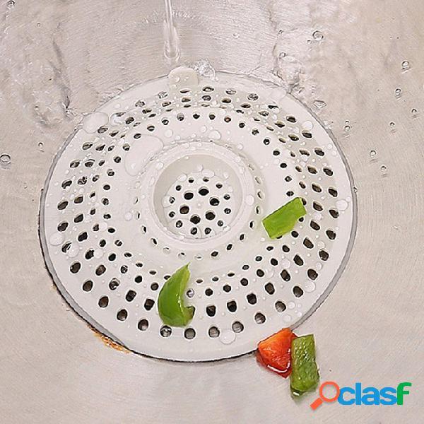 Protectores del tapón del pelo del residuo del alimento del dren del piso del silicón para el fregadero (4 pcs)