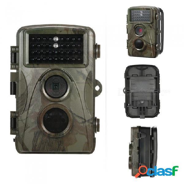 720 p cámara de caza de 12mp cámara de camino salvaje a prueba de agua cámara de visión nocturna infrarroja animal de observación de vídeo w / mount y cable de color de imagen