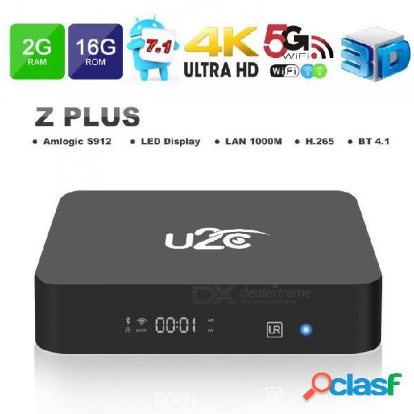 Android 7.1 caja de tv inteligente u2c z plus amlogic s912 negro memoria ram incorporada 2gb rom 16gb