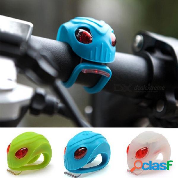 Diseño exclusivo de cabeza extraterrestre bicicleta de silicona bicicleta cabeza ciclista rueda trasera led luz de destello de advertencia luces parpadeantes blancas