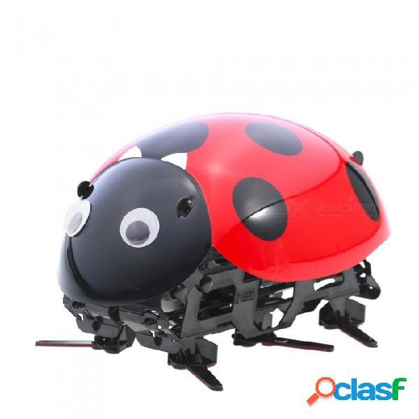 Forma de mariquita control remoto inalámbrico diy simular escarabajo electrónico insecto mascota juguete para niños
