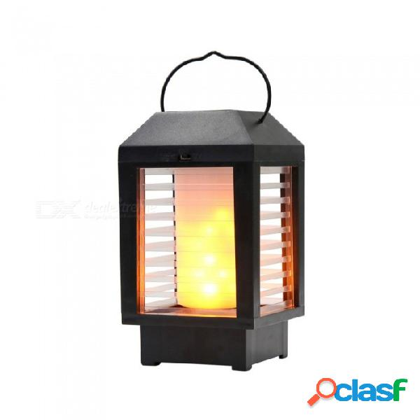 Lámpara de pared de la llama lámpara de pared led lámpara de la lámpara del jardín lámpara de paisaje lámpara de paisaje al aire libre a prueba de agua antorcha de césped carga de luz +18650