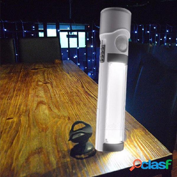 Linterna de led controlada por luz inteligente de inducción del cuerpo humano 3 en 1, antorcha de luz nocturna de emergencia para exteriores blanco / blanco