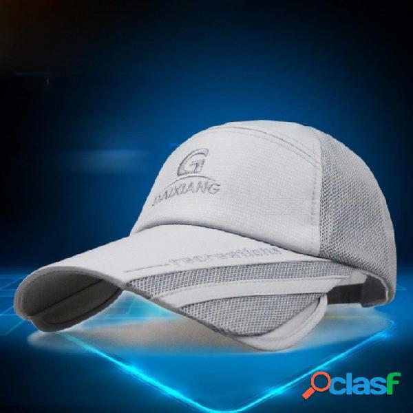 Sombrero de verano, visera retráctil, hombres y mujeres, protector solar, pesca, gorra fresca, sombrero de sol coreano, gorra de béisbol al aire libre
