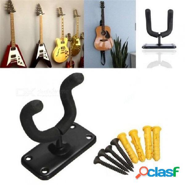 Soporte para gancho de la percha de la guitarra baja soporte de la pared del soporte del soporte de la pared del ukelele + tornillos para instrumentos musicales de la guitarra accesorios de p
