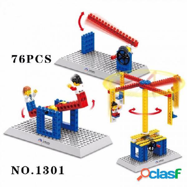 Wange 3901 bloques de construcción de bricolaje ensamblados maquinaria de montaje manual de ladrillos juguetes educativos para niños 165 unids multicolor