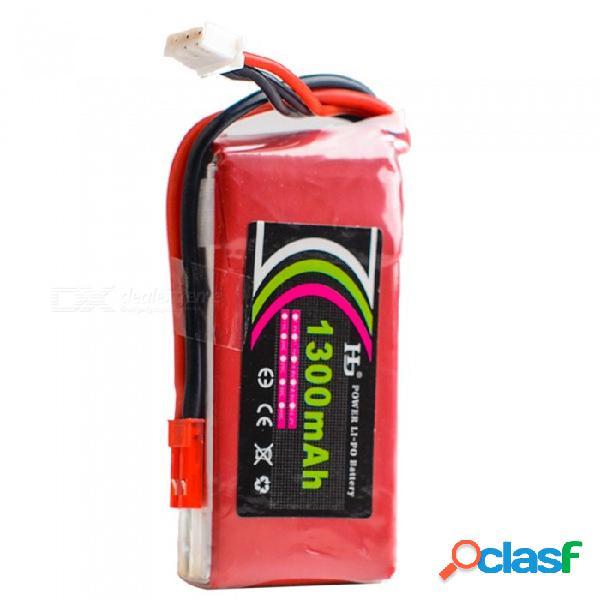 Batería recargable de la lipo del poder 7.4v 25c 1300mah de hj con el enchufe de jst para la máquina del planeador kt, barco del coche del abejón de rc
