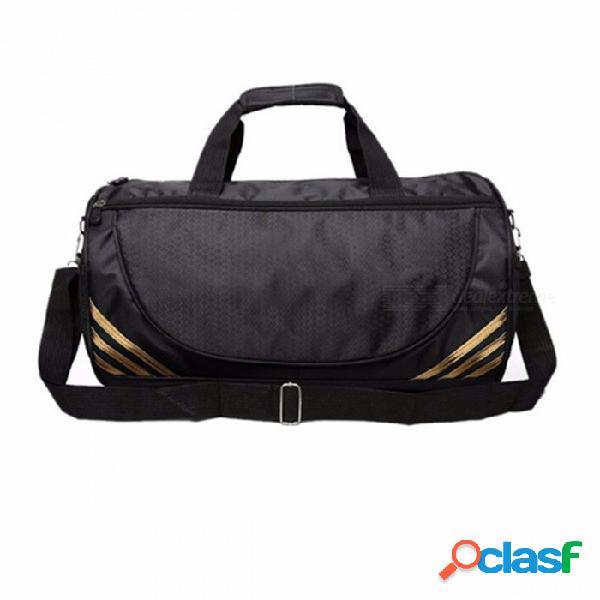 Bolsa de viaje de nylon universal, bolsa de viaje grande portátil, cremallera maleta de viaje equipaje negro