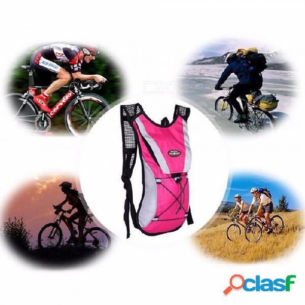 Deportes al aire libre bolsa de agua bolso de la bolsa de bicicleta de senderismo mochila de viaje hombres y mujeres bolsa de hombro bolsa de montar bolsa de agua negro azabache / otra