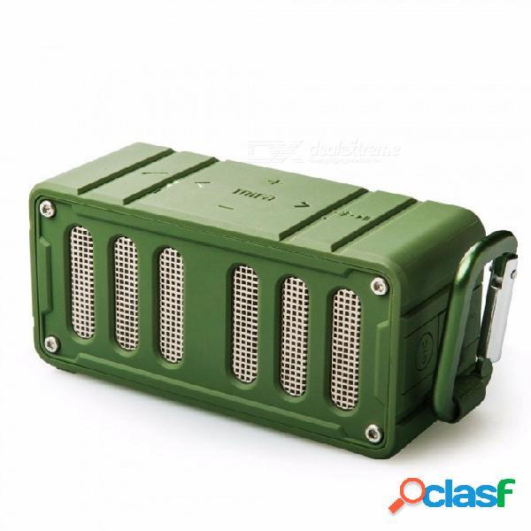 Mifa - f6 nfc altavoz bluetooth, altavoz estéreo inalámbrico, súper bajo hifi 360 grados sin pérdida de música reproductor para teléfono ejército verde / altavoz