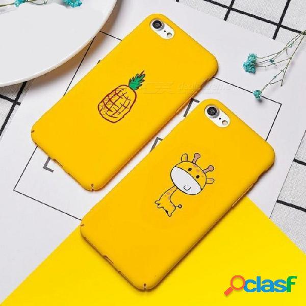 Caja linda de dibujos animados para iphone x 7 8 6 6s estuche piña jirafa fruta animal cajas del teléfono cubierta de la pc dura para iphone 6 7 8 plus para iphone 6 6s / jirafa