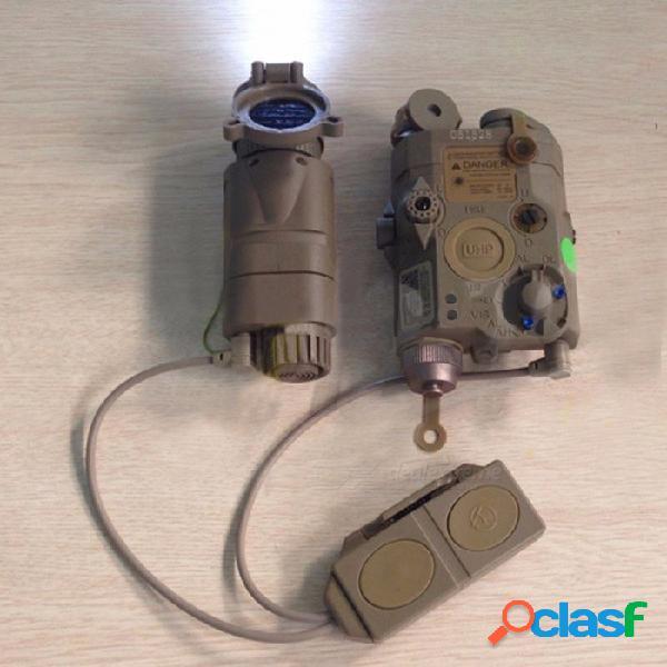 La luz de caza del kit táctico del elemento incluye la-5c peq, linterna m3x, ajustes teledirigidos dobles para el rayo de 20m m laser marrón claro