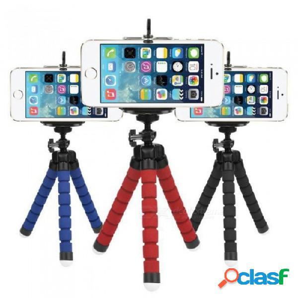 Mini trípode de pulpo flexible para teléfono con soporte para clip de teléfono para iphone x 7 6 6s samsung s9 s8 xiaomi gopro cámara de acción negro