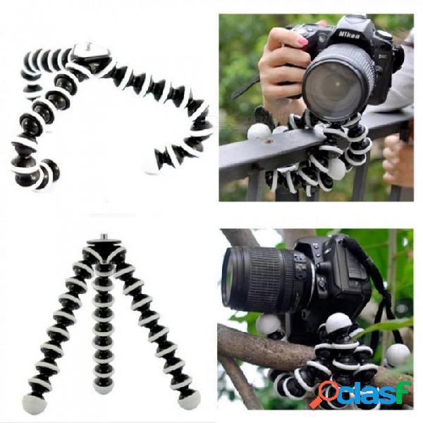 Soporte para trípode flexible de pulpo grande para teléfono móvil teléfono teléfono inteligente dslr y escritorio de mesa para cámara mini trípode blanco y negro
