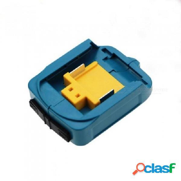 Adaptador de adaptador de cargador de alimentación usb y cargador de dispositivos compatibles para makita 18v 14.4v batería de iones de litio azul