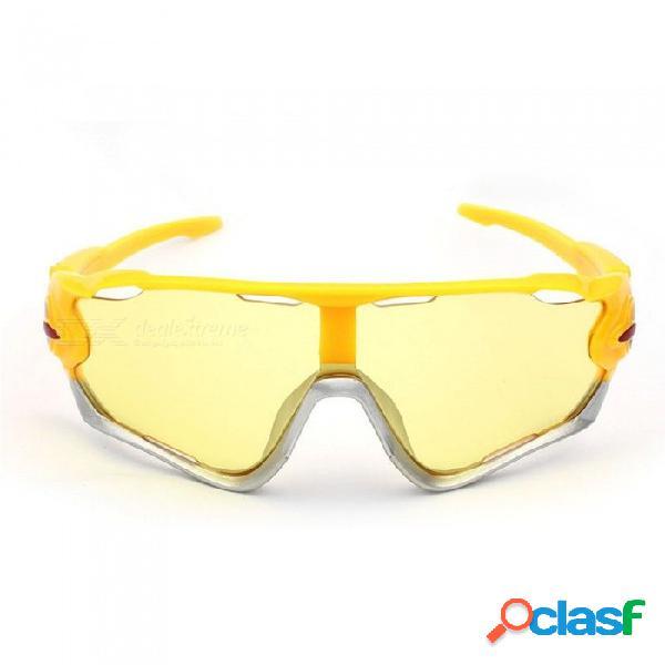 Ciclismo gafas de sol a prueba de arena deporte al aire libre bicicleta gafas mujeres hombres montando bicicleta gafas claras negro