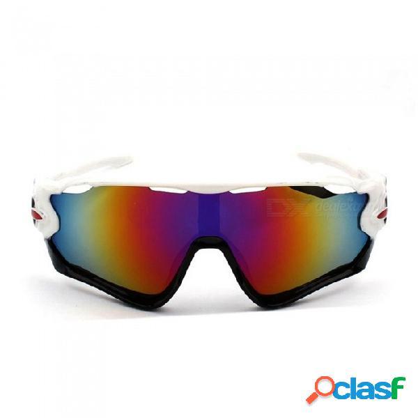 Ciclismo gafas de sol polarizadas deporte exterior gafas de bicicleta mujeres hombres montando gafas de bicicleta 1 juego negro