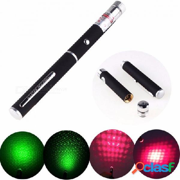 Nuevo dispositivo de visión láser de caza de 500 metros, 5mw luz roja / verde estrellas linterna de puntero láser (sin batería) verde